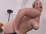 Chubby Blonde Touches Herself