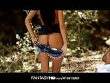 FantasyHD Hot teen fucks in forest