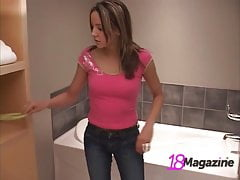 Take a Bath With Young Tiny Tits Teen Andi Pink!