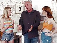 Lily Larimar & Aliya Brynn shares Derrick Pierce's big cock