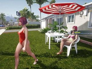 SunbayCity Hentai Game bikini walk in the city in GTA parody