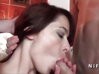 Sublime french slut hard and double teamed...
