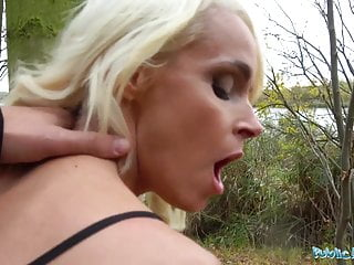 Public Agent Tattooed busty German blonde MILF fucked hard