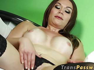 Brook touching her tits while masturbating...