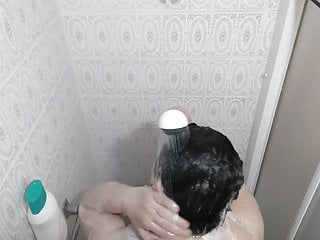 recorded my fat woman in the shower