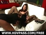 Interracial Lesbians Threesome!
