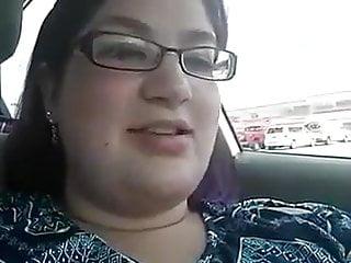 Chubby inside car...