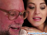 Beautiful euro pounded by seniors dick