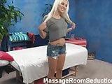 Hot Blonde Seduced by Massage