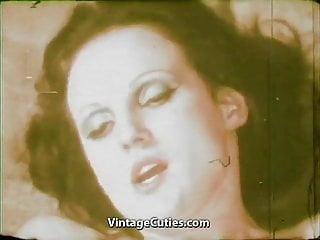 Girl eating cum of ugly 1970s vintage...