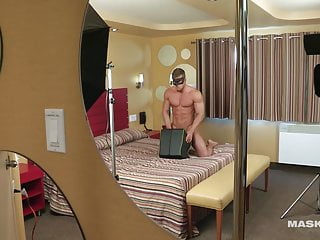 MASKURBATE Anonymous Muscle Hunk Fucks a Sex Toy