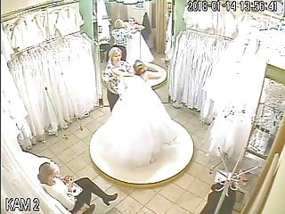 spy camera in the salon of wedding dresses 4 (sorry no sound