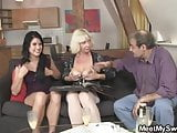 Sweetie gets lured into threesome by her boyfriend's parents