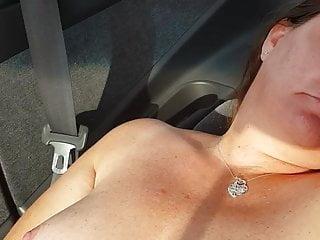 Masturbating at truck stop entrance...
