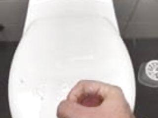 Public Restroom toilett cumshot