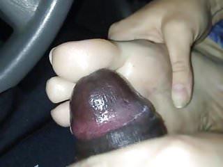 Handjob in my driveway part 2 cumshot...