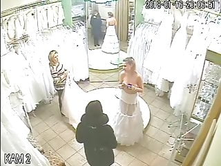 Voyeur vid: spy camera in the salon of wedding dresses 4 (sorry no sound