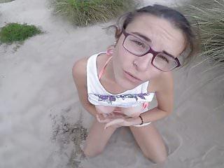 Blowjob & Awsome Facial On The Beach =D