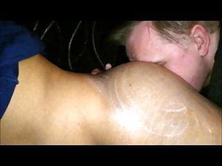 Kinky guy licking cream off my ass amp...