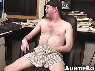 Thin and hairy dude masturbates in a cool...