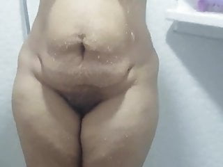 Hot thick bhabhi bathing ( mega big jugs and ass)