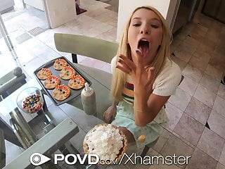 POVD Thanksgiving Creampie Party With Kenzie Reeves