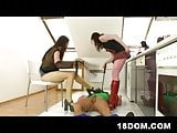 18yo dominatrixes having their way with a plumber