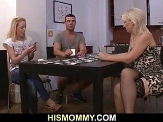 poker leads to mom teen dildo fucking...
