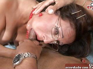 Spanish amateur Latina milf gets anal fuck
