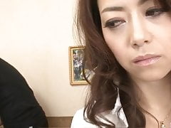 Naked Maki Hojo delights with cock in both holes
