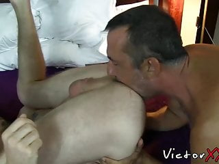gay rimjob enjoys getting raw fucked Tattooed a before