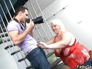 Huge woman on the floor...