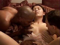 Cheating Asian Wife Mika BBC Creampie Gangbang
