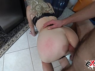 Minx sucks stranger's dick and gets fucked in her ass – cum insertion