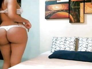 Hot latina showing big fat ass...