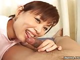Gorgeous japanese nurse doing blowjob