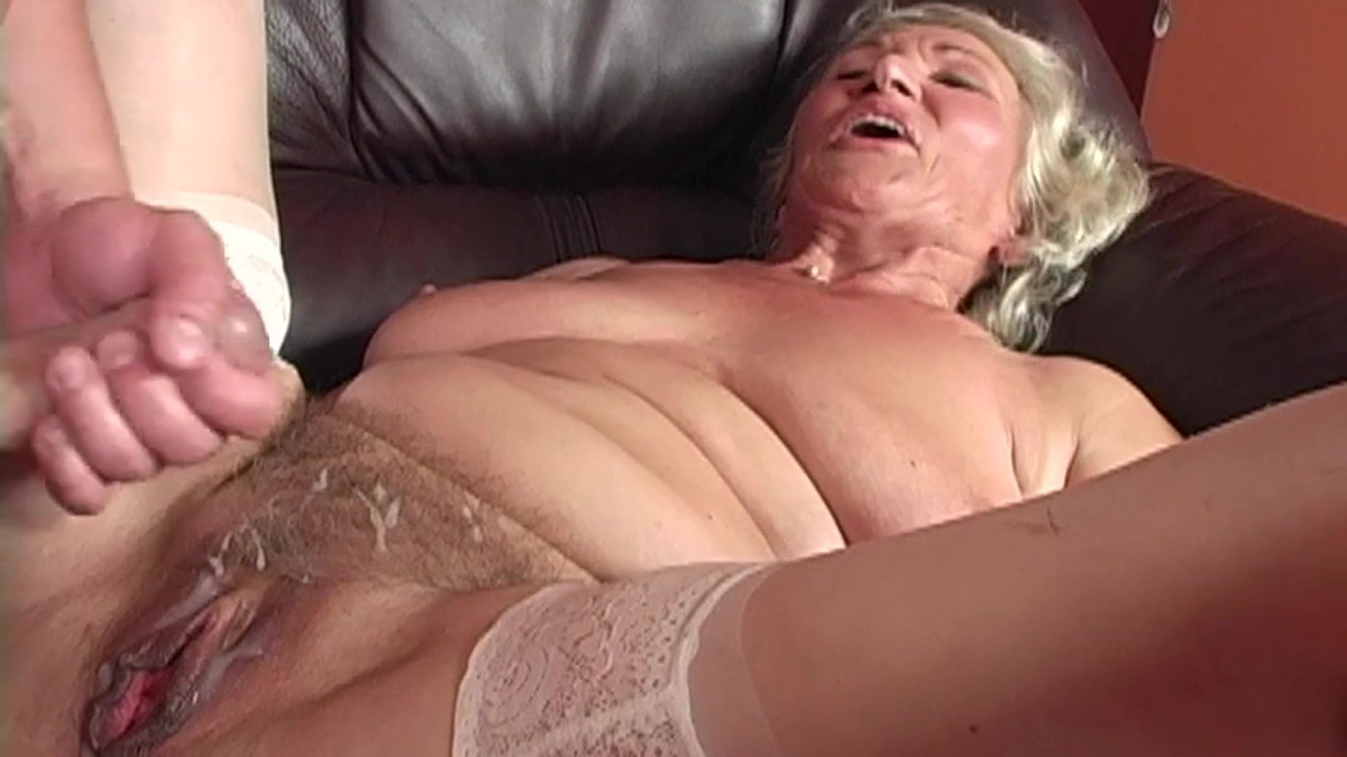 Sultry Grandma Norma In Hot Undies Shows Big Hooters And Toys Her Twat