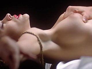 Alyssa milano slow motion boob squeeze...