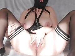Masked slut wife orgasm for strangers