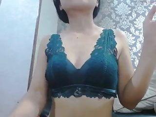 Sexy college slut sit on cock