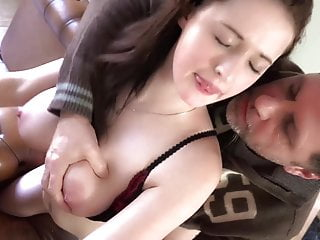 Fucked hard cum in mouth and on tits...