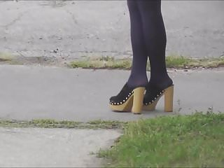 Well-shaped legs #5 (black stockings)