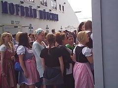 Oktoberfest Toilet line