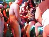 Bi-sexual babes fucking in public