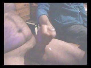 nach der Schwanzmassage abgespritzt