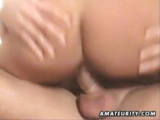 Busty amateur Milf blowjob and fuck with cum on tits