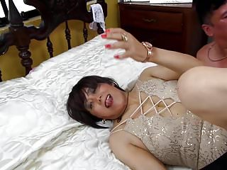Anal gangbang along with her two pals