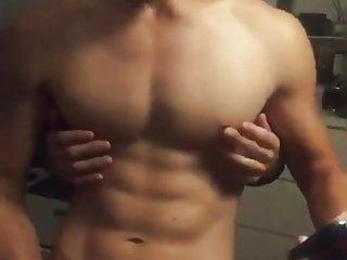 Guy getting nipple played...