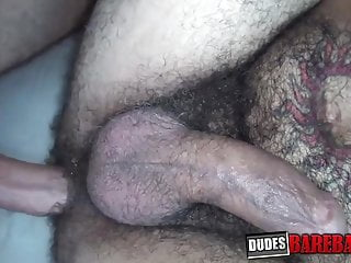 Muscle inked hunk bareback doggystyle fucked after blowjob...