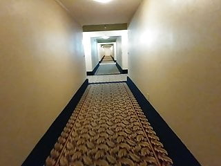 7 min naked So nervous walk completely hotel hallways thru